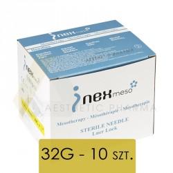 INEX Igły do mezoterapii - 32G 0,26x4 - 10 sztuk