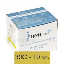 INEX Igły do mezoterapii - 30G 0,3x4mm- 10 sztuk